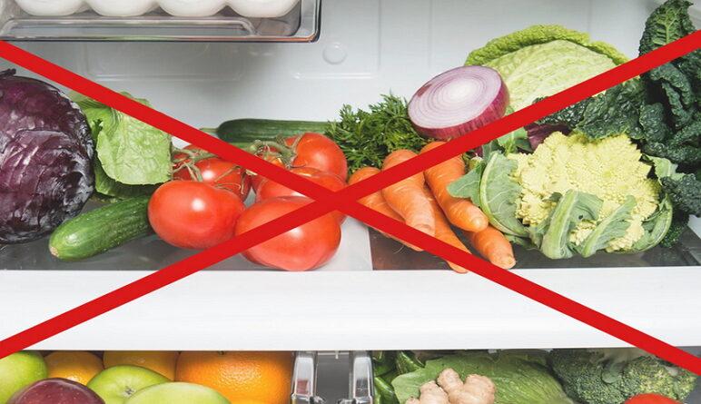 légumes et fruits, aliments pas au refrigerateur